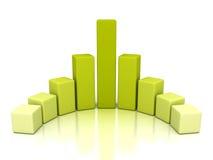 Diagram för graf för stång för framgångaffärsfinans med reflexion Royaltyfria Foton