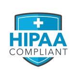 Diagram för HIPAA-överensstämmelsesymbol Royaltyfria Bilder