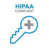 Diagram för HIPAA-överensstämmelsesymbol Royaltyfri Fotografi