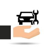 Diagram för hjälpmedel för försäkringbilservice Royaltyfri Bild