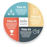 Diagram för information om affärscirkel, diagram Royaltyfri Fotografi