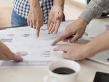 Diagram för information om affärsgraf, teamwork Royaltyfri Bild