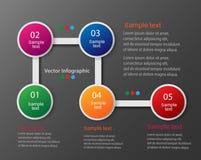Diagram för information om vektor för dina affärspresentationer Royaltyfria Bilder