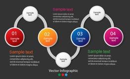 Diagram för information om vektor för dina affärspresentationer Royaltyfri Foto