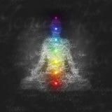 Diagram för meditationyogacharka Fotografering för Bildbyråer