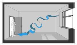 Diagram för naturlig ventilation Royaltyfri Bild