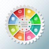 Diagram för paj för kugghjulhjul med 8 eker Royaltyfri Bild