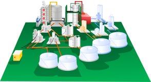 Diagram för Petrochemicalillustrationfunktion Royaltyfria Bilder