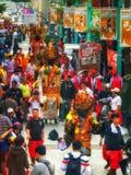 Diagram för procession Taiwan Taipei för religiös festival Royaltyfri Bild