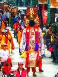 Diagram för procession Taiwan Taipei för religiös festival Royaltyfri Foto