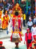 Diagram för procession Taiwan Taipei för religiös festival Arkivbilder