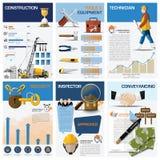 Diagram för Real Estate och egenskapsaffärsdiagram Infographic vektor illustrationer