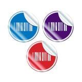 Diagram för rengöringsduk för etikettsBarcodeetikett Arkivfoton