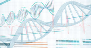 diagram för spiral 3D av DNA:t Royaltyfri Bild