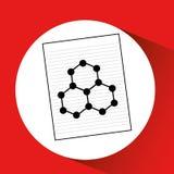 Diagram för teckning för struktur för molekyl för vetenskapslaboratorium royaltyfri illustrationer