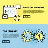 Diagram för Tid ledning och för affärsplanläggning Arkivfoton