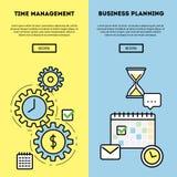 Diagram för Tid ledning och för affärsplanläggning Arkivfoto