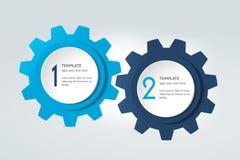 Diagram för två beståndsdelar, intrig, diagram Infographic mall stock illustrationer