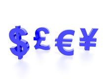 Diagram för världsvalutabegrepp Royaltyfri Bild
