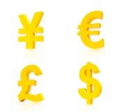 Diagram för världsvalutabegrepp Royaltyfri Foto
