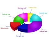 diagram för vektor för diagram för paj 3D Royaltyfria Foton