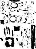 Diagram försäljning, handprint svart skissar tappning för Kalifornien affischsteamers royaltyfri illustrationer
