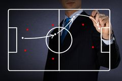 Diagram of a football game Royalty Free Stock Photo