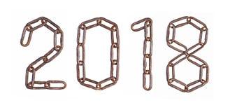 2018 Diagram från chain sammanlänkningar Royaltyfria Bilder