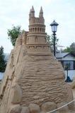 Diagram från sanden slotten Arkivbild