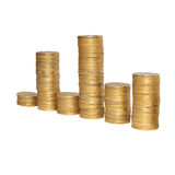 Diagram of golden coins Stock Image