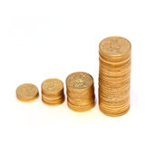Diagram of golden coins Royalty Free Stock Image