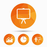 Diagram graph Pie chart. Presentation billboard. Royalty Free Stock Images
