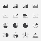 Diagram and graphs icons set. Stock Images