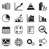 Diagram and graphs icons set Stock Photo