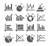 Diagram and graphs icons Stock Image