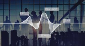 Diagram Graphs Information Statistics Stock Data Concept royalty free stock photography