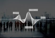 Diagram Graphs Information Statistics Stock Data Concept royalty free stock photo