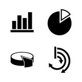 Diagram graphs. Simple Related Vector Icons Stock Photo