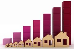 Diagram of growth in real estate prices Royalty Free Stock Image
