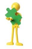 diagram gummi för jigsawstyckpussel Royaltyfri Bild