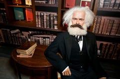 diagram heinrich Karl Marx wax Royaltyfri Fotografi
