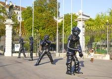 Diagram i Parc des-bastioner i Genève royaltyfri fotografi