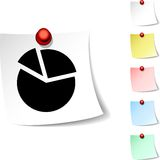 Diagram  icon. Royalty Free Stock Photos