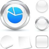Diagram  icon. Diagram  white icon. Vector illustration Royalty Free Stock Images