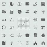Diagram icon. Detailed set of Finance icons. Premium quality graphic design sign. One of the collection icons for websites, web de. Sign, mobile app on colored Royalty Free Stock Photo