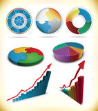 Diagram icons Stock Images