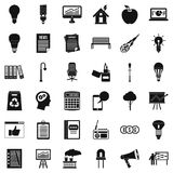 Diagram icons set, simple style. Diagram icons set. Simple style of 36 diagram vector icons for web isolated on white background Royalty Free Stock Photography