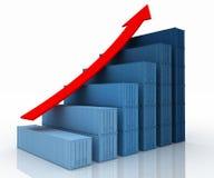 Diagram of increasing exportation Stock Photography