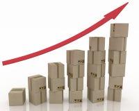 Diagram of increasing exportation Stock Photo