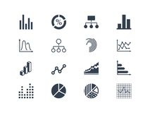 Diagram and infographic icons Royalty Free Stock Image